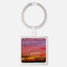 thelordsprayer_sunset Square Keychain