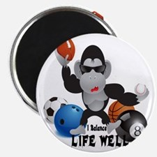 Balance Sports Life Well Magnet