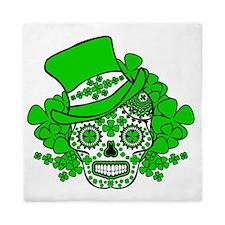 St.Patricks Day Skull 2 Queen Duvet