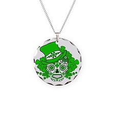 St.Patricks Day Skull 2 Necklace