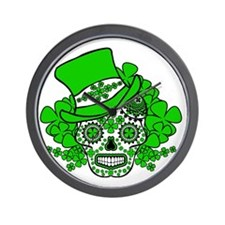 St.Patricks Day Skull 2 Wall Clock