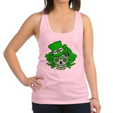 St.Patricks Day Skull 2 Racerback Tank Top