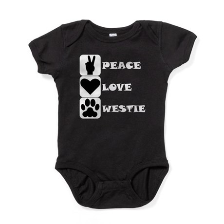 Peace Love Westie Baby Bodysuit