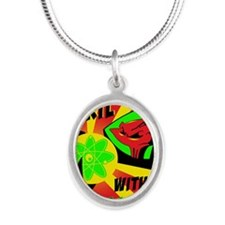Emp-Mol-Prop-Poster-16x24 Silver Oval Necklace
