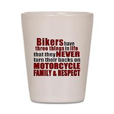 Three Things - Bikers Shot Glass