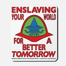 Emperor-Mollusk-Logo-WT Mousepad