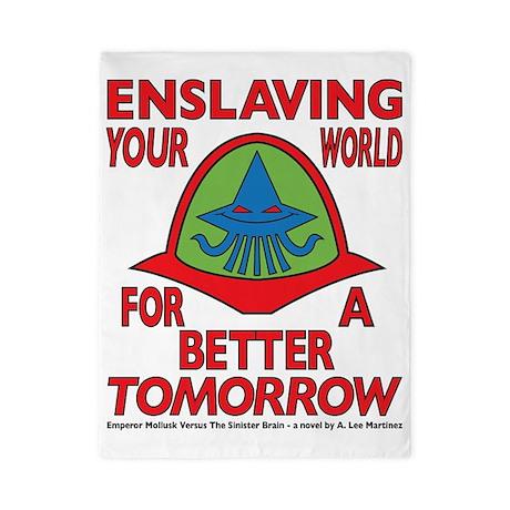 Emperor-Mollusk-Logo-WT Twin Duvet
