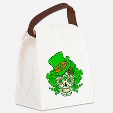 St.Patricks Day Skull 3 Canvas Lunch Bag