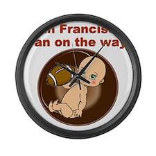49ers_maternity Large Wall Clock