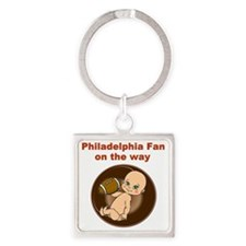 eagles_maternity Square Keychain