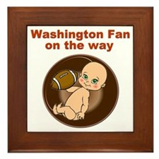 redskins_maternity Framed Tile