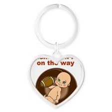 redskins_maternity Heart Keychain