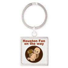 texans_maternity Square Keychain