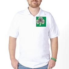Saint Paddys Day Clover Bling T-Shirt