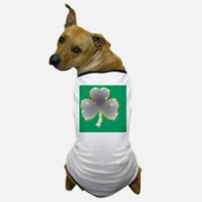 Saint Paddys Day Clover Bling Dog T-Shirt