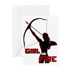 girl red archer Greeting Card
