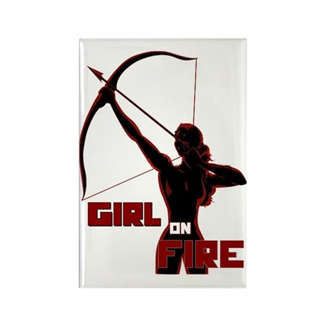 girl red archer Rectangle Magnet