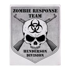 Zombie Response Team Henderson Throw Blanket