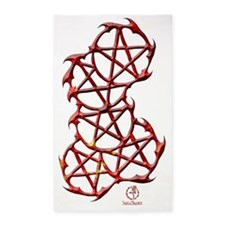 ThornedPentacles1-fire 3'x5' Area Rug