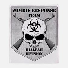 Zombie Response Team Hialeah Throw Blanket