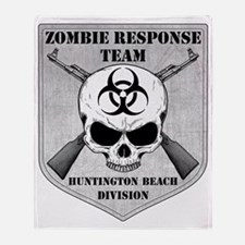 Zombie Response Team Huntington Beac Throw Blanket