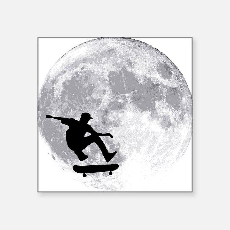 "moon Square Sticker 3"" x 3"""
