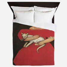 Ammi Phillips Girl in Red with her cat Queen Duvet