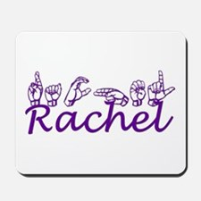 Rachel in ASL Mousepad