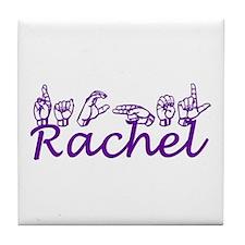 Rachel in ASL Tile Coaster