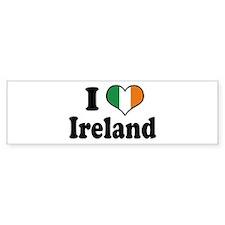 I Love Ireland Tricolor Bumper Bumper Bumper Sticker