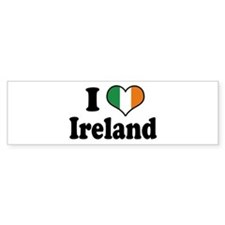 I Love Ireland Tricolor Bumper Bumper Sticker