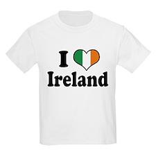 I Love Ireland Tricolor Kids T-Shirt