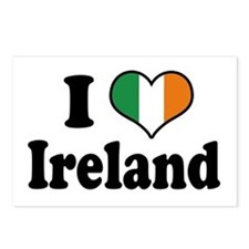 I Love Ireland Tricolor Postcards (Package of 8)