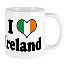 I Love Ireland Tricolor Mug