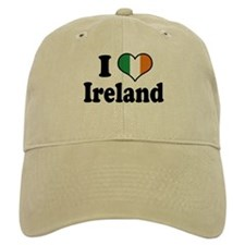 I Love Ireland Tricolor Baseball Cap