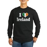 I Love Ireland Tricolor Long Sleeve Dark T-Shirt