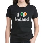 I Love Ireland Tricolor Women's Dark T-Shirt