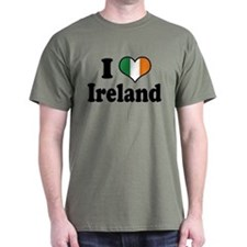 I Love Ireland Tricolor T-Shirt
