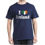I Love Ireland Tricolor Dark T-Shirt
