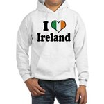 I Love Ireland Tricolor Hooded Sweatshirt