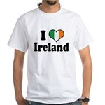 I Love Ireland Tricolor White T-Shirt