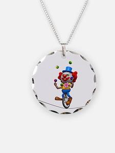3d-clown-tightropeuni Necklace