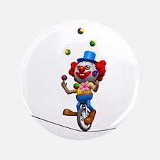 "3d-clown-tightropeuni 3.5"" Button"