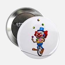 "3d-clown-tightropeuni 2.25"" Button"