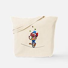 3d-clown-tightropeuni Tote Bag