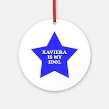 Xaviera Is My Idol Ornament (Round)