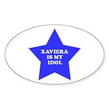 Xaviera Is My Idol Oval Decal