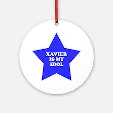 Xavier Is My Idol Ornament (Round)