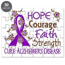 D Hope Courage Faith Strength 3 Alzheimers  Puzzle