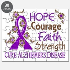 D Hope Courage Faith Strength 3 Alzheimers  Puzzle
